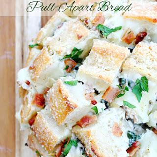 Spinach Artichoke Bacon Pull-Apart Bread