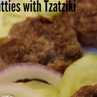Lamb Patties with Tzatziki Sauce