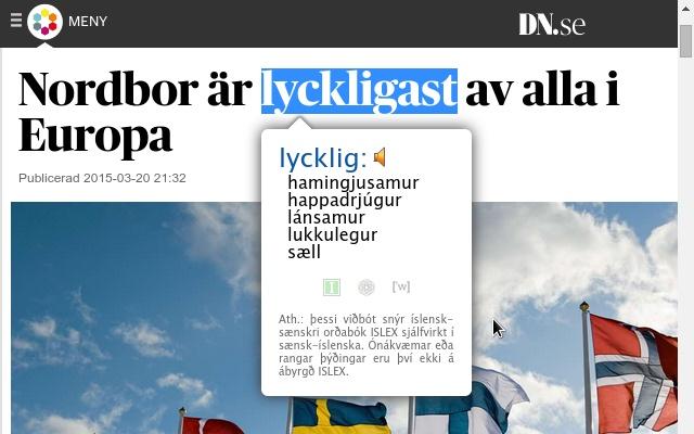 Sænsk-íslensk orðabók (Swe-Ice Dictionary)