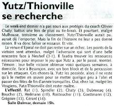 Photo: 18-12-2011 Epinal et Yutz-Thionville, à égalité de points, devront se départager