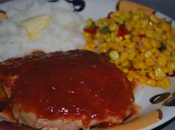 Pork Chops, Potatoes, And Sw Corn