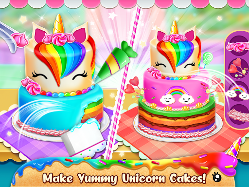 Unicorn Food Bakery Mania: Baking Games android2mod screenshots 8