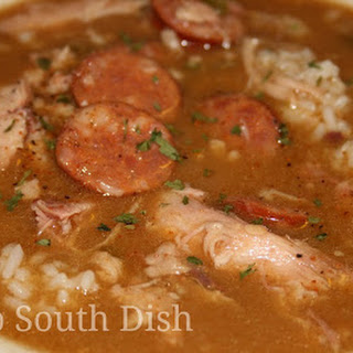 Chicken and Andouille Sausage Gumbo.