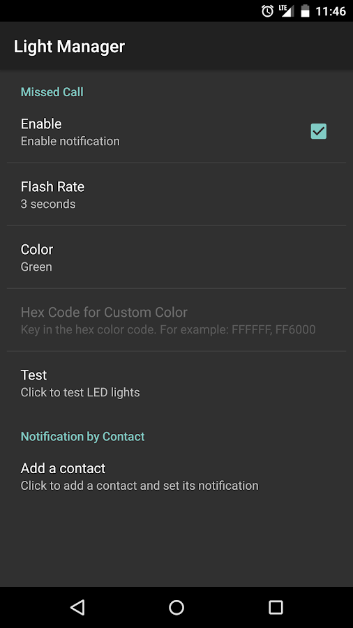 Light Manager - LED Settings- screenshot