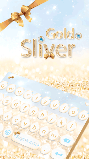 Gold Sliver Kika Keyboard