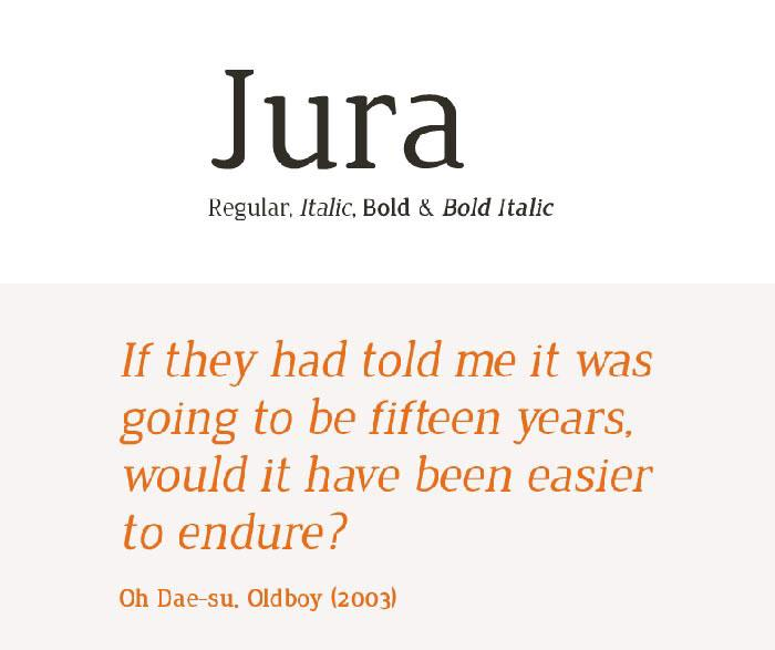 jura Legibility And Readability - Principles That Shouldn't Be Ignored When Designing