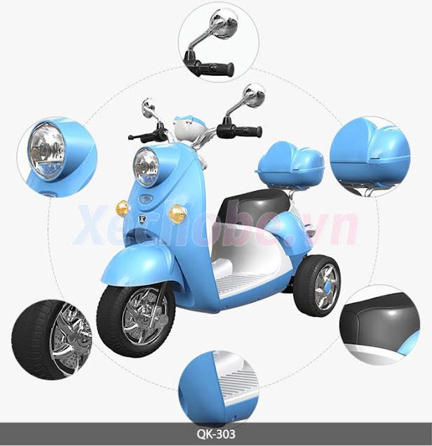 cấu tạo của một chiếc xe máy điện trẻ em