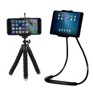 Mini trepied flexibil + Suport mobil flexibil Lazy Holder