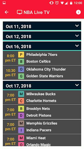 NBA Games Live on TV - Free 1.2 screenshots 3