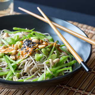 Soba Noodles with Edamame and Spicy Peanut Sauce