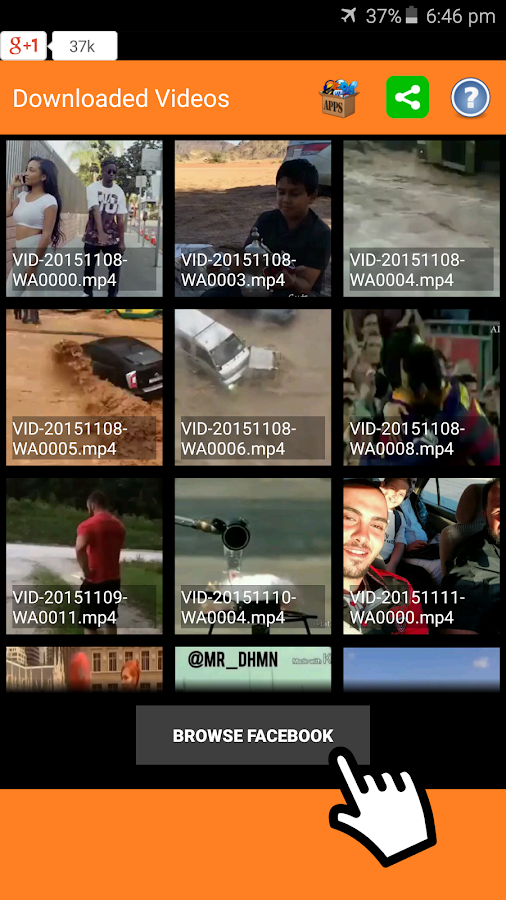 Screenshots of Video Downloader for Facebook for Android