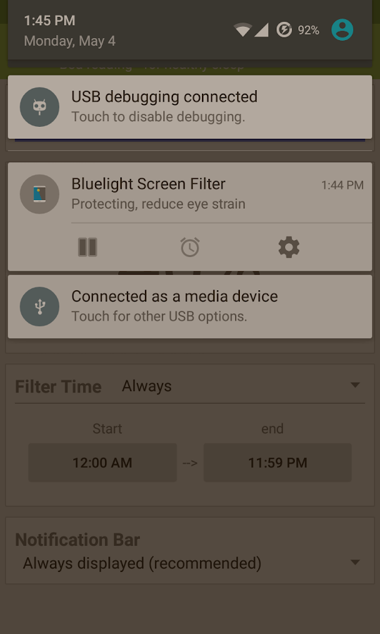 Bluelight Screen Filter- screenshot