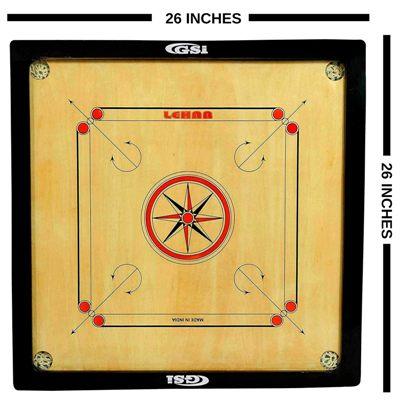 GSI 26 Inch Carrom Board