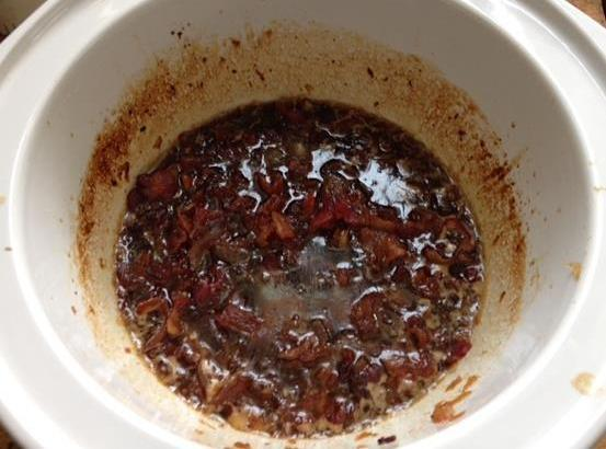Remove from heat. Stir in bacon and honey. Transfer mixture to a 6-8 quart...