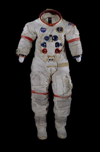 Pressure Suit, A7-L, Shepard, Apollo 14, Flown