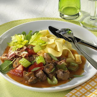 Pappardelle with Lamb Stew.
