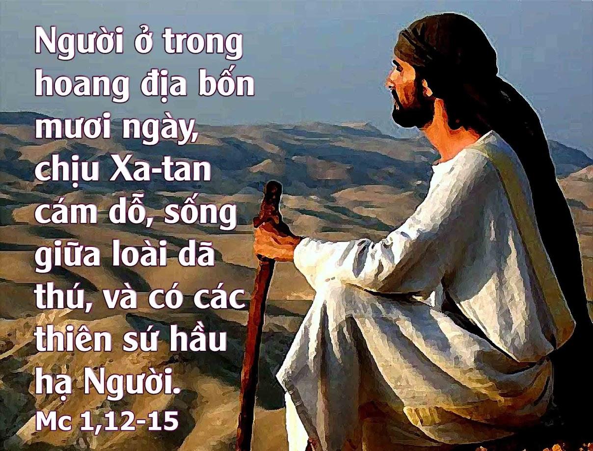 Kết quả hình ảnh cho hình ảnh động Chúa Giêsu chịu cám dỗ, Chúa nhật I Mùa Chay, năm B