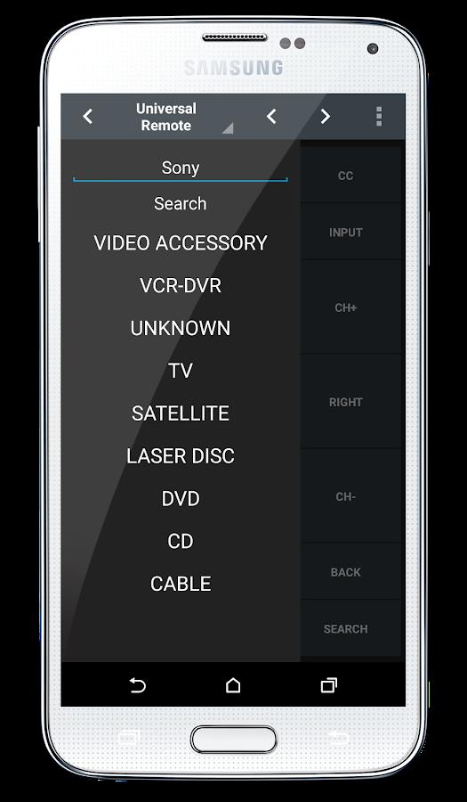 IR Universal Remote™ - IR 2.0- screenshot