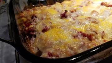 Reuben Casserole for the microwave