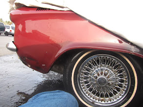 Photo: A couple of hours of cleaning the wheel/tire and sanding the protective layer of paint