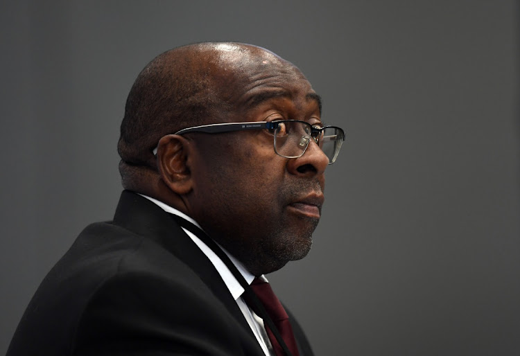 Nhlanhla Nene at the Zondo commission of inquiry into state capture. Picture: FELIX DLANGAMANDLA/FOTO24/GALLO IMAGES/GETTY IMAGES