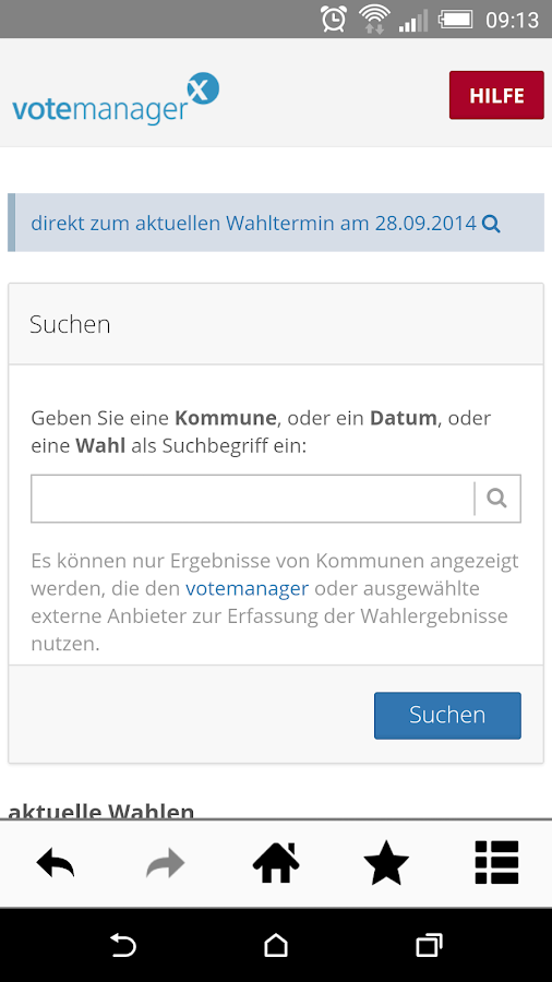 VoteManager – Screenshot