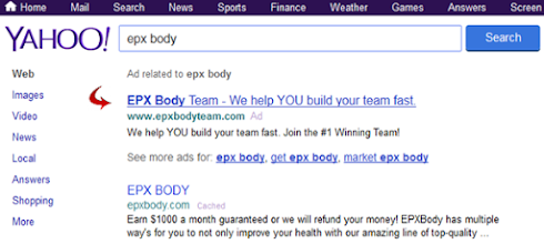Photo: The EPX Body Team FREE team advertising on Yahoo