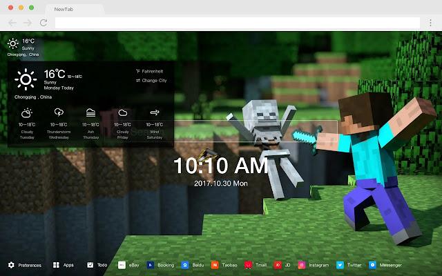 Minecraft HD  Pop Games New Tabs Theme