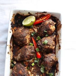 Jerk Chicken with Spicy Rice Recipe