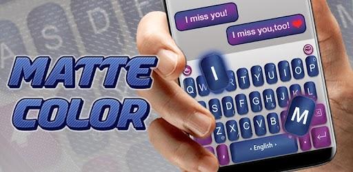 Chủ đề bàn phím Matte Color APK 0