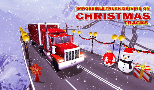Impossible Truck Driving On Christmas Tracks
