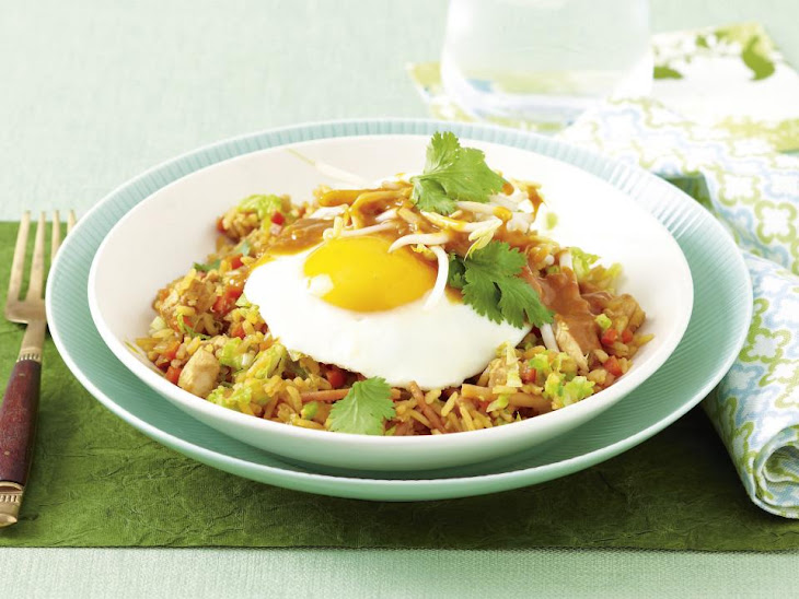 Chicken Fried Rice with Peanut Sauce Recipe