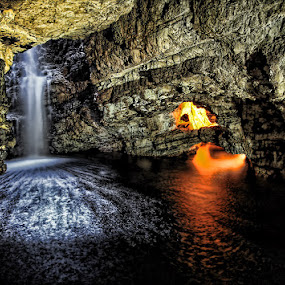 Smoo Cave by Steve BB - Landscapes Caves & Formations ( shore, scotland, waterfall, smoo cave, beach, durness, underground )