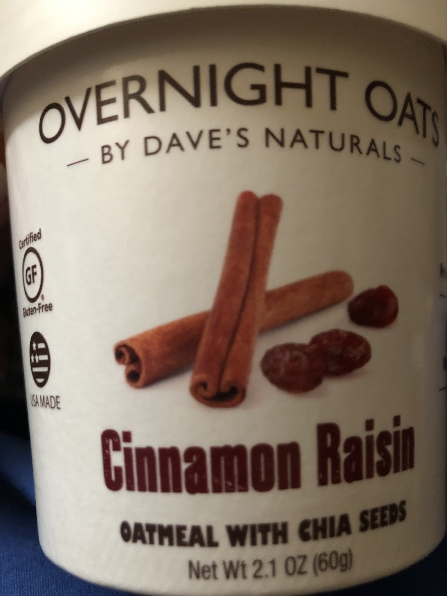 Overnight Oats-Cinnamon Raisin