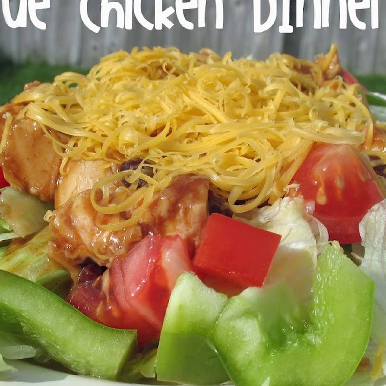 Barbecue Chicken Dinner Salad