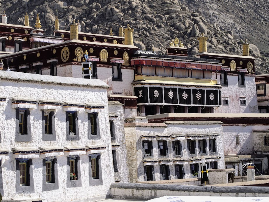 Drepung Monastery, the largest of all Tibetan monasteries.