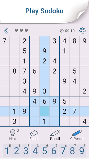 Sudoku: Free Brain Puzzles 1.7 screenshots 1