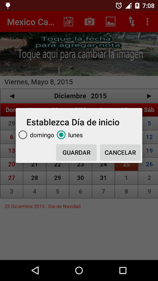 Mexico Calendario 2015 - screenshot