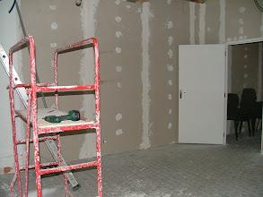 Photo: Réalisation de la salle de réunion communautaire (Salle derrière l'office de tourisme à Dompierre.)