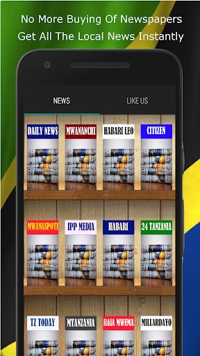 Tz News Reader-Habari Tanzania 1.1 screenshots 1