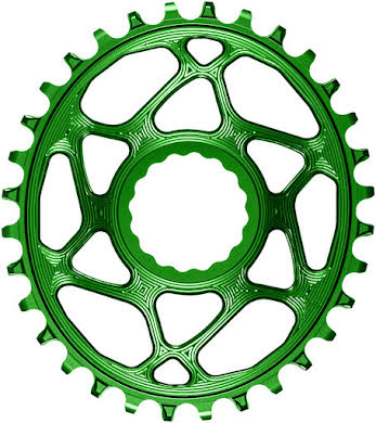 Absolute Black Oval Narrow-Wide Direct Mount Chainring - CINCH Direct Mount, 3mm Offset, Colored  alternate image 3