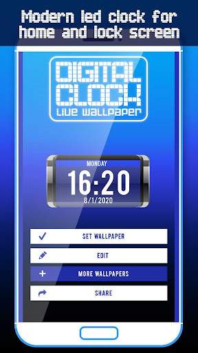 Big Digital Clock Live Wallpaper screenshots 1