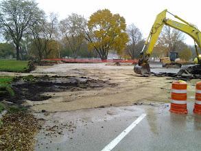Photo: Removing asphalt 10-31-2013