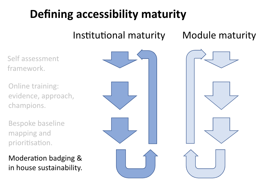 Accessibility maturity graphic