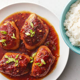Slow-Cooker Spicy Honey Garlic Chicken.