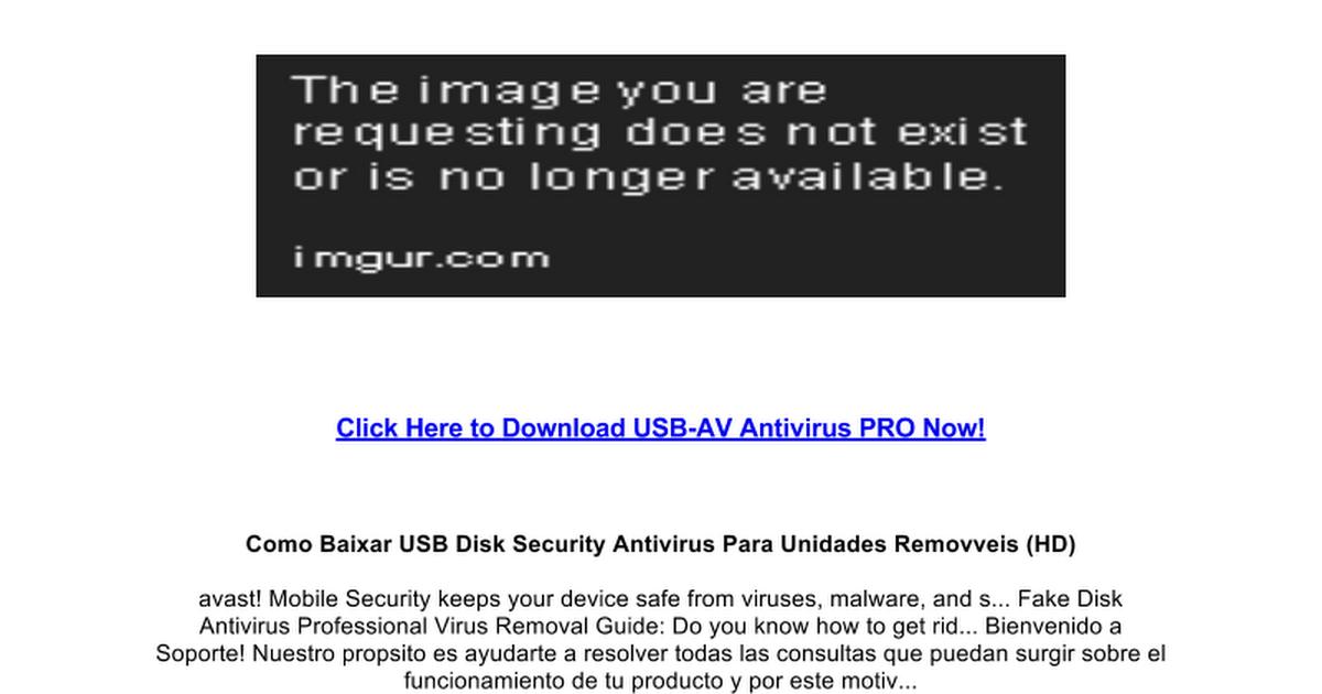download update usb-av antivirus