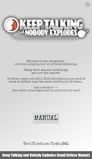 Keep Talking Bomb Defuse Manual