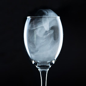 Smoked by Zeljko Marcina - Artistic Objects Still Life ( pwcstilllife-dq, still life, strobes, glass, smoke,  )