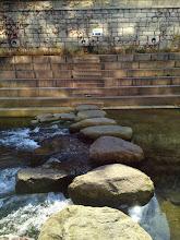 Photo: Cheonggyecheon - rocks to cross stream