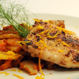 Red Grouper with Tomato Braised Fennel